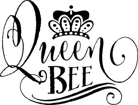 """queen bee"""" vinyl wall decal sticker sign crown teen bedroom"""