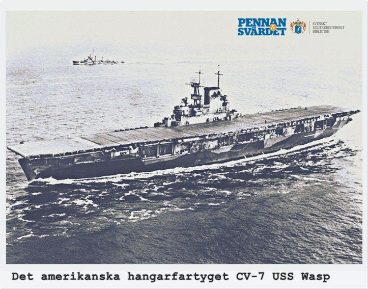 1942-09-15 slaget om Guadalcanal, lilla ön nordost om Australien. Amerikansk flottstyrka var på väg med 7:e marinkårsregementet för att stärka upp. Wasp var ett av världens största hangarfartyg med 76 stridsflygplan/ besättning på 2 000. Hangarfartygets tankningssystem var igång när Kinashi avfyrade en salva på 6 långdistanstorpeder av typ 95. En 3:e torped fångades upp av en våg & slungades genom luften & slog in i fartygssidan ovanför vattenlinjen med förödande kraft hos explosionen.