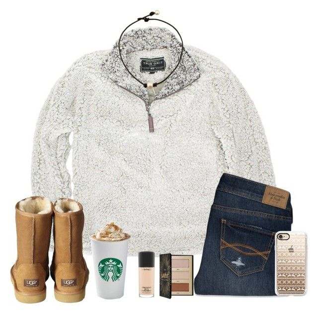 """❄️⛸"" by gabyleoni ❤ liked on Polyvore featuring True Grit, Abercrombie & Fitch, UGG Australia, MAC Cosmetics, Sephora Collection and Casetify"