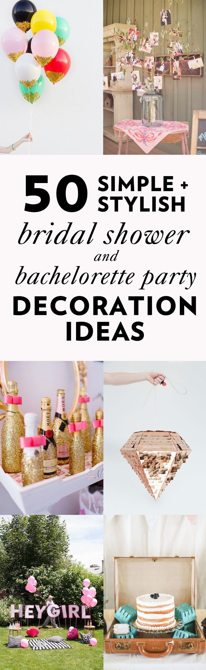 50 Simple and Stylish DIY Bridal Shower