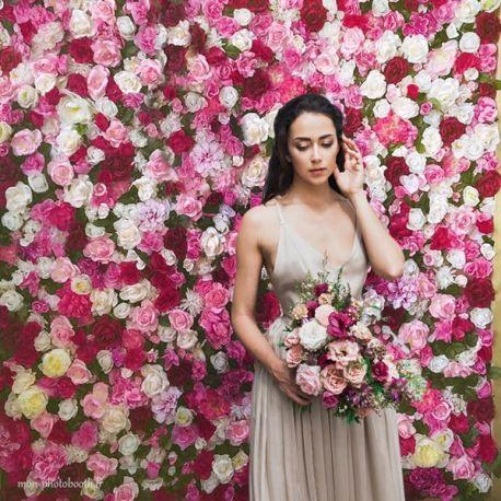mur de fleurs mariage multicolore le frida kahlo. Black Bedroom Furniture Sets. Home Design Ideas