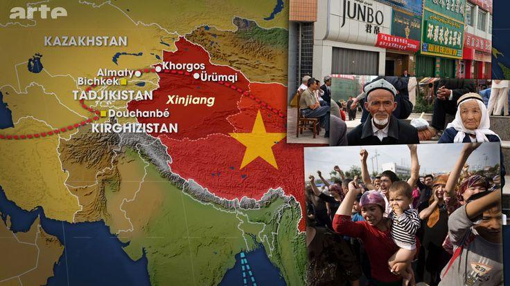 La nouvelle route de la soie passe par Urumqi, la capitale de la province autonome du Xinjiang, et Korghos, qui se trouve à la frontière avec le Kazakhstan. Peuplé de Ouïghours, une ethnie musulmane turcophone, le Xinjiang fait l'objet d'une politique de sinisation de la part du gouvernement central de Pékin, qui cherche à sécuriser les frontières du pays et à exploiter les ressources naturelles de la région.