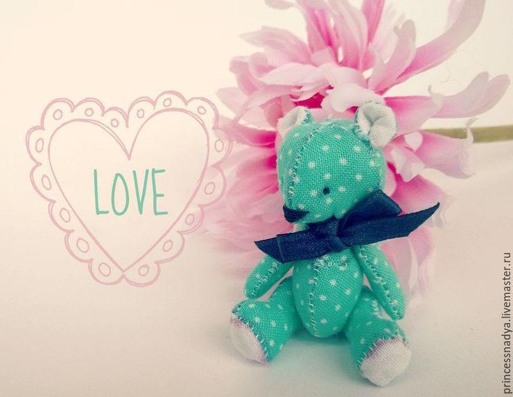 Купить Миниатюрные игрушки животные (мишка и заяц) - разноцветный, мишка, медведь, медвежонок, тедди