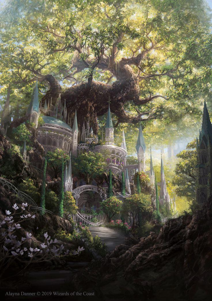 Temple Garden Promo of Magic: The Gathering of Alayna on DeviantArt – Fantasy Places – #Alayna #on #DeviantArt #fantasy #Garden