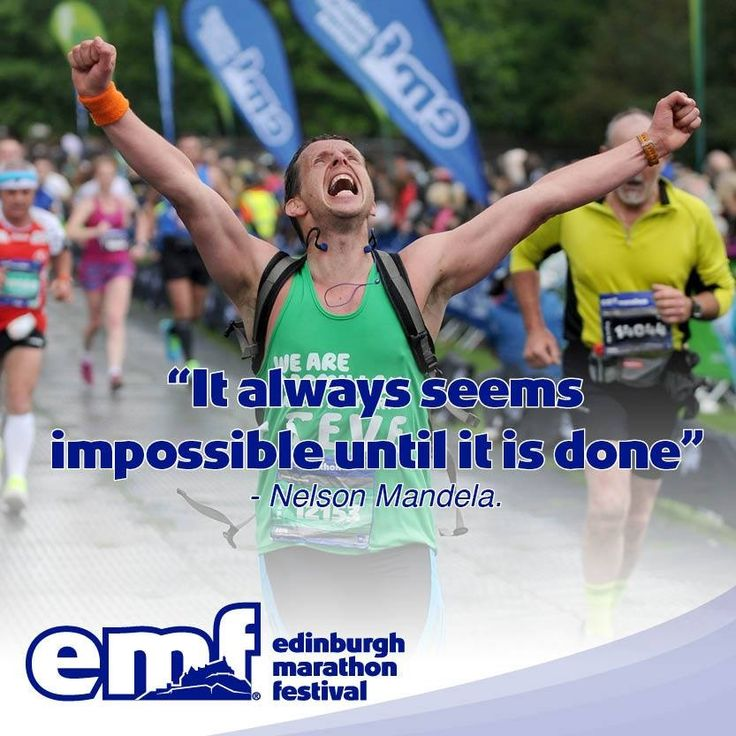 One of my proudest moments. The moment I crossed the finish line of the marathon alongside a quote from one of the greatest people who ever lived during my lifetime. This image was used by the Edinburgh Marathon and the original photo was used in every press release of the marathon, on a thank you card sent to every Macmillan runner and in the EMF promo leaflet that was in the magazine sent to everyone who lost out in the London Marathon Ballot