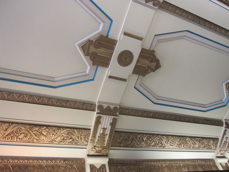 Ceiling decor in Block Court, Collins Street. Melbourne, Victoria, Block Court, remodelled in 1930.