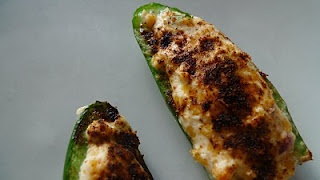 Bobby Flay's grilled jalapeno poppers; best I've tasted and healthier, too!