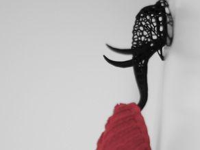 Jpottaway 3D printed Elephant Cloth Hanger by Jun0
