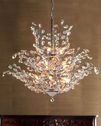 """Upside-down"" Crystal Chandelier- this is a beautiful chandelier I would hang this in our dining room"
