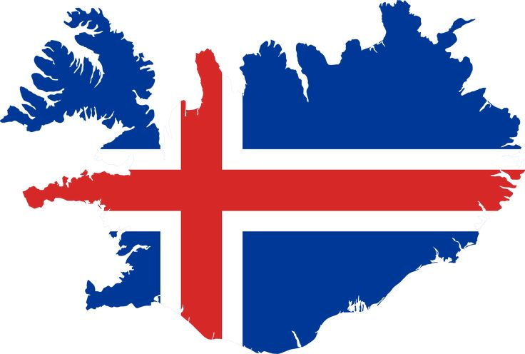 Iceland Flag Map by GDJ