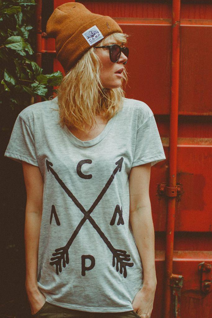 ARROW CREST LOOSE T-SHIRT // OATMEAL HEATHER | Camp Brand Goods