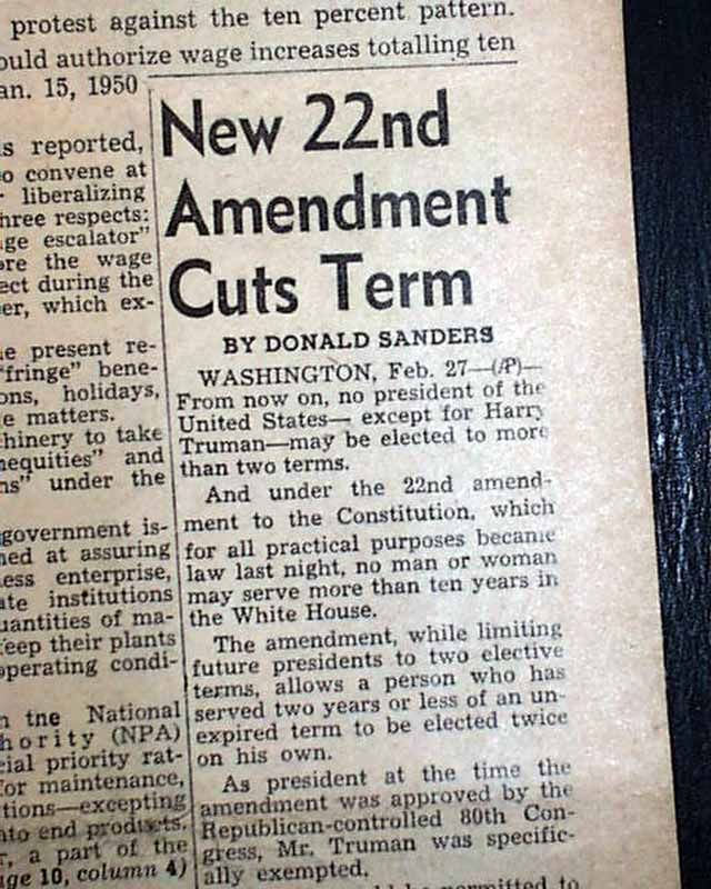 Bill to Repeal the 22nd Amendment