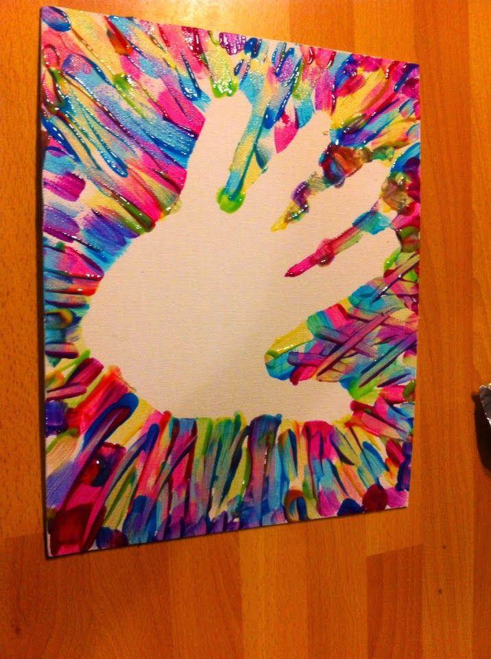 Family Nights: U legt Uw hand op mij (Ps 139:5) - hand omtrekken op een stuk karton. Deze plakken we op een canvasdoek en we schilderen er om heen. Als dat klaar is haal je het karton weg en laat goed drogen. Daarna kun je er een tekst inschrijven.