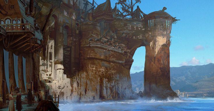 ArtStation - Pirate Cove Establishing, Kevin Jick