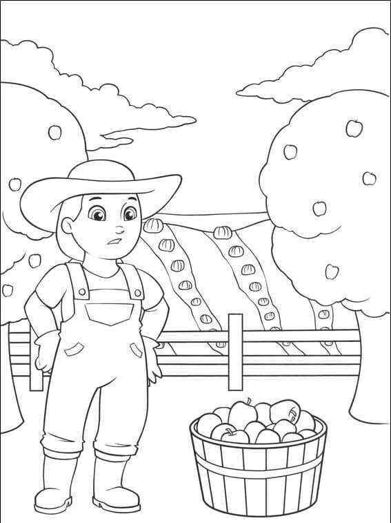 cool farmer yumi paw patrol coloring