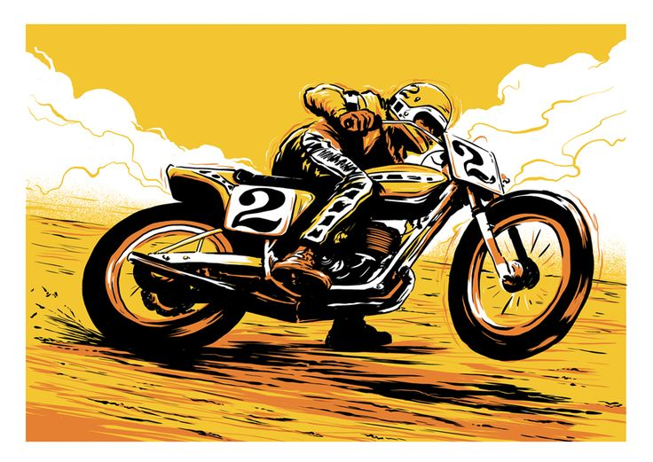 #Motorcycle Illustrations by Ryan Quickfall http://columnm.com/incredible-motorcycle-illustrations-by-ryan-quickfall #art #artist