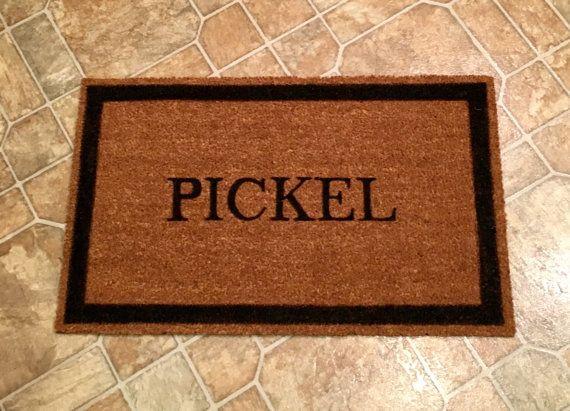 Personalized Doormat Custom Door Mat Doormat by ToniAnnsBellaArte