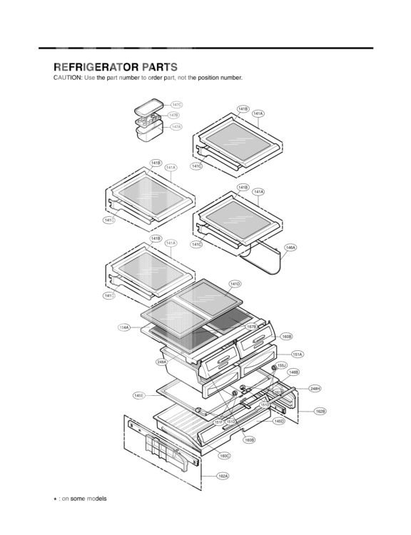 LG Refrigerator LFC25760SB Parts List