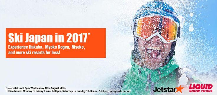 Jetstar's Japan Ski Holiday Packages for Australia in 2017 - http://www.japanesesearch.com/jetstars-japan-ski-holiday-packages-australia-2017/ Australia, Hakuba, jetstar, myoko, Niseko, ski