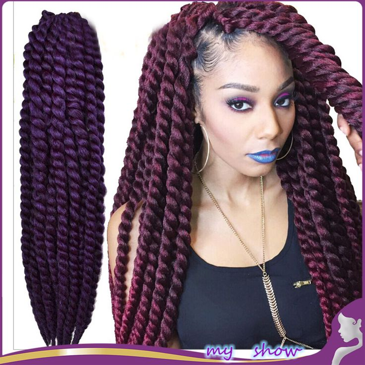 """Cheap hair straightening iron prices, Buy Quality hair dryers on sale directly from China hair fashion Suppliers: 3 Pack/Lot 24"""" 14 Color Havana Mambo Twist Crochet Braid Hair Senegalese Synthetic Crochet Twist Jumbo"""
