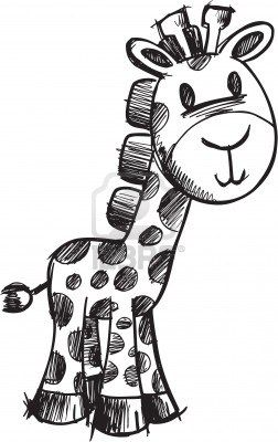 Schetsmatig giraffe illustratie Stockfoto - 6883631