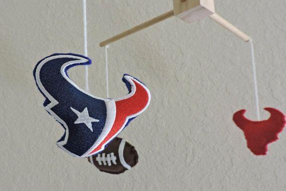 Houston Texans Football Felt Nursery/Baby Mobile by TexanPalmer