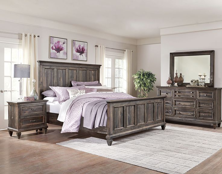 Calistoga 6-Piece Queen Bedroom Package - Weathered Charcoal   The Brick