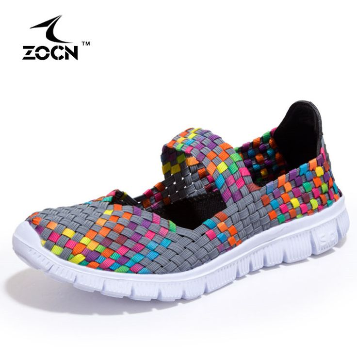 ZOCN 2016 New Casual Shoes Woman Flat Soft Breathable Swing Shoes Stretch Fabric Casual Shoe High Quality Fashion Zapatos Mujer