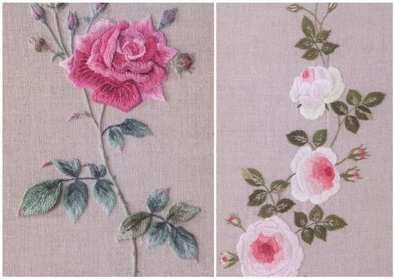 28 Embroidery Rose Patternrose Collection By Totsuka Etsy Rose Embroidery Pattern Japanese Embroidery Embroidery Book