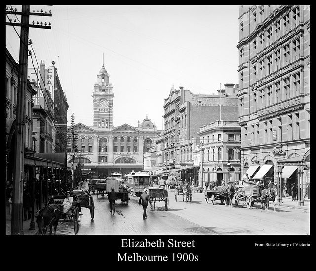 Street scene, Elizabeth Street, Melbourne 1900s | Flickr - Photo Sharing!