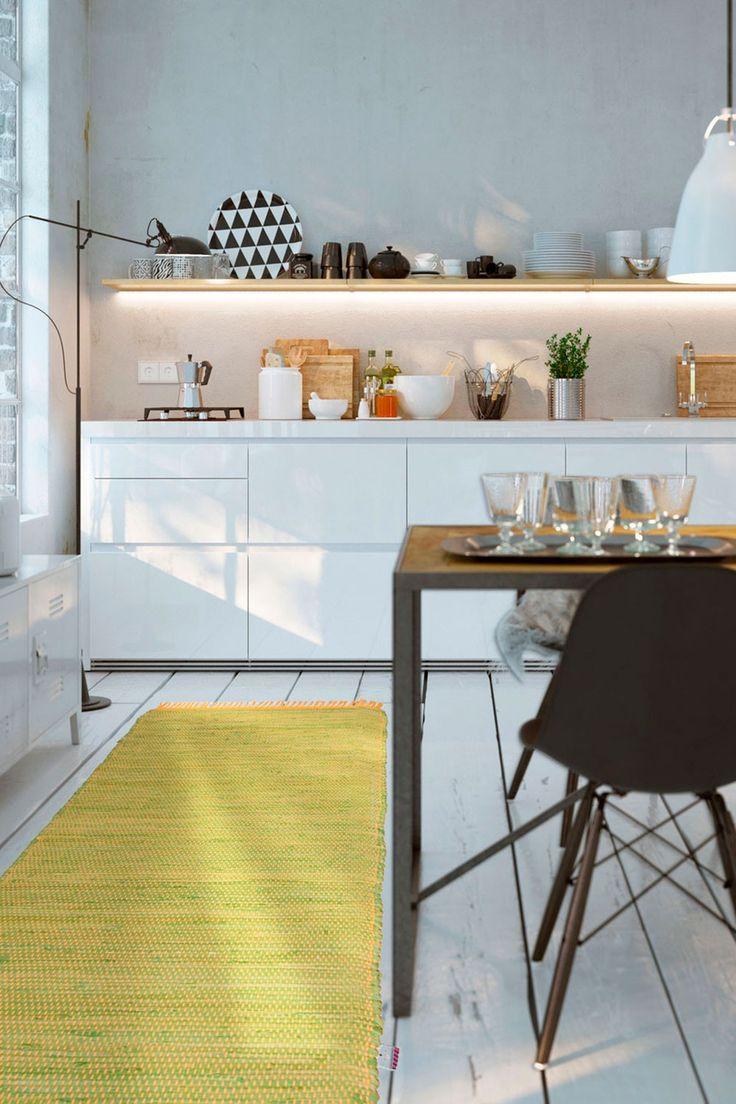 821 best CUCINA - Kitchen images on Pinterest | Kitchen white, Small ...