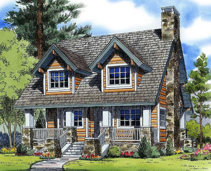 plan 11528kn mountain cabin plan - Mountain Cabin Plans