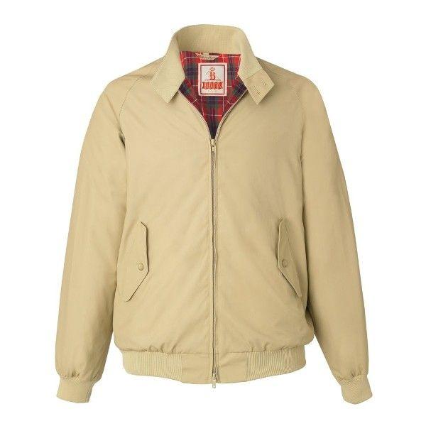 G9 Baracuta Slim Fit Harrington Jacket 'Made In England' - Natural