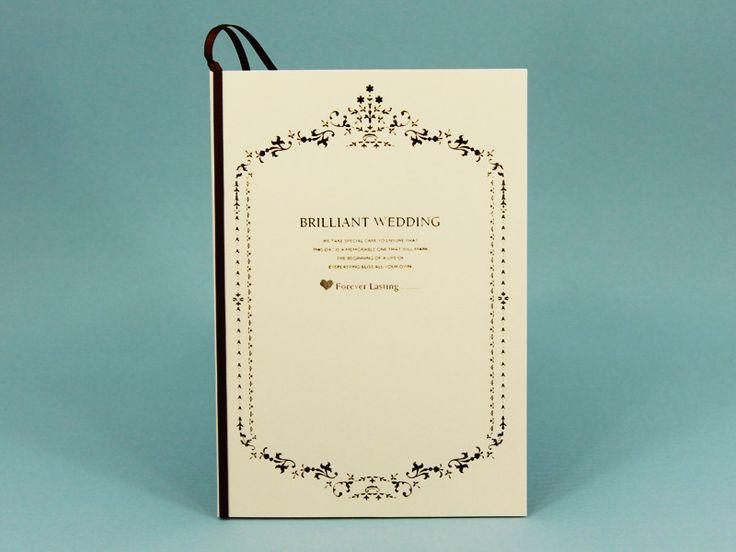 オーセンティックで高級感のある結婚式のメニュー表を集めました♡