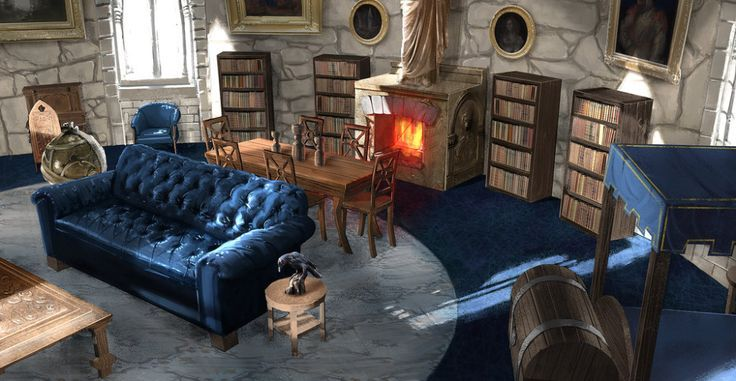Ravenclaw Common Room Harry Potter En 2020 Serdaigle Idee Chambre Poudlard