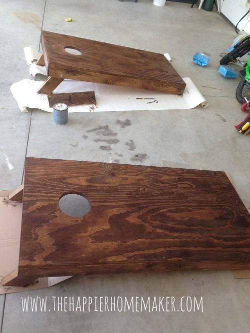 DIY cornhole game. We want lots of lawn games and cornhole is the champion of lawn games. Any carpenters out there?