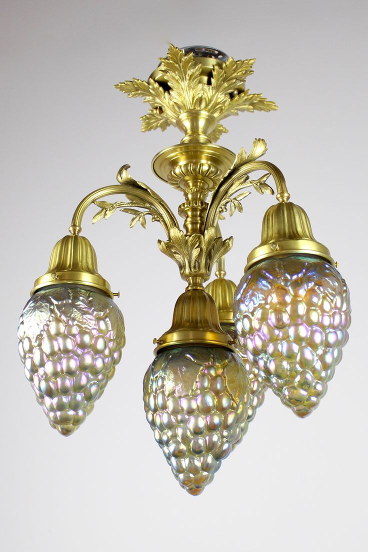 33 best renew industrial vintage lighting images on pinterest ff1101 rococo revival style flushmount 4 ligh with art glass grape shades arubaitofo Images