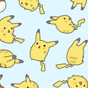 Cute Pikachu by nerdbaitplus3, click to purchase fabric