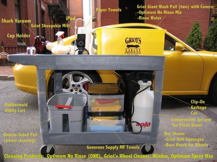 Mobile Car Wash by Coochas -- Homemade mobile car wash setup for the urban enthusiast without access to permanent space or running water. Utilizes a specially-equipped cart and a rinseless soap formulation. http://www.homemadetools.net/homemade-mobile-car-wash