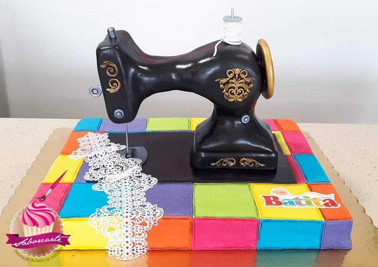 Bolo Máquina de costura; Sewing Machine Cake