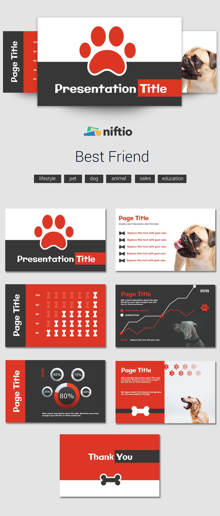 This template thursday is dedicated to every animal lover out there!   #presentationtemplates  #templates  #design #template  #powerpointalternative