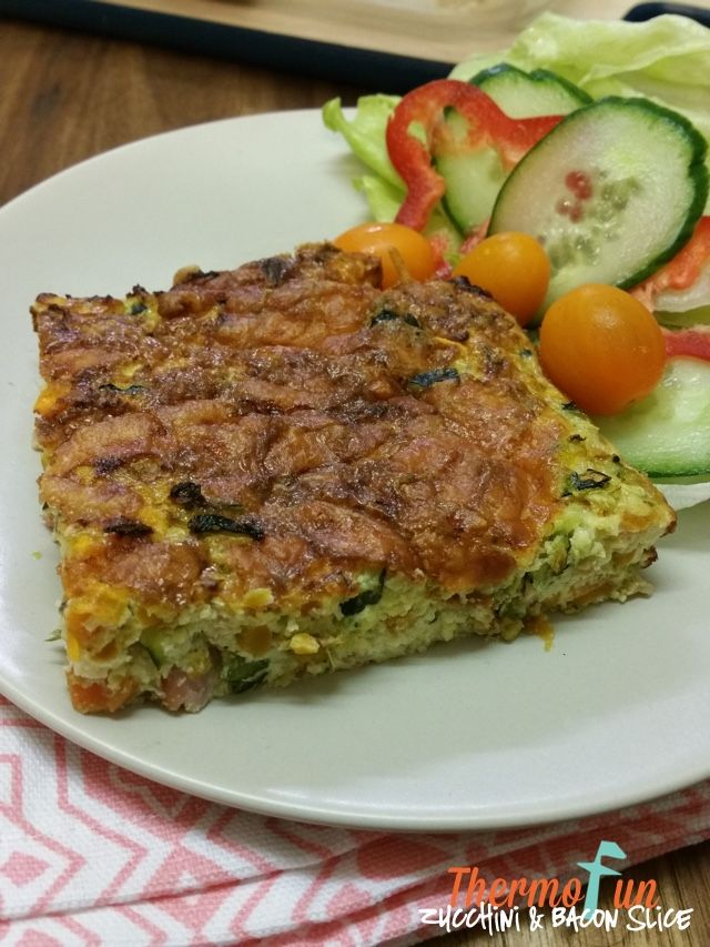 Thermomix Zucchini and Bacon Slice - ThermoFun | Thermomix Recip