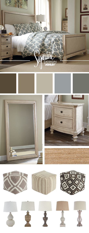 Master Bedrooms - Bedroom Furniture - Demarlos Queen Upholstered Bed - Ashley Furniture