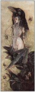 Image of Black Queen   One of my Absolute favorites from Jeremy Hush http://hushillustration.blogspot.com/