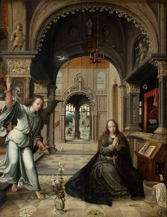 annunciation in northern renaissance art essay The cartographic symbolism in jan van eyck's annunciation in the national gallery of art, washington, dc comitatus 4 (1973): 41-48, repro 44, 45 1974 birkmeyer, karl.