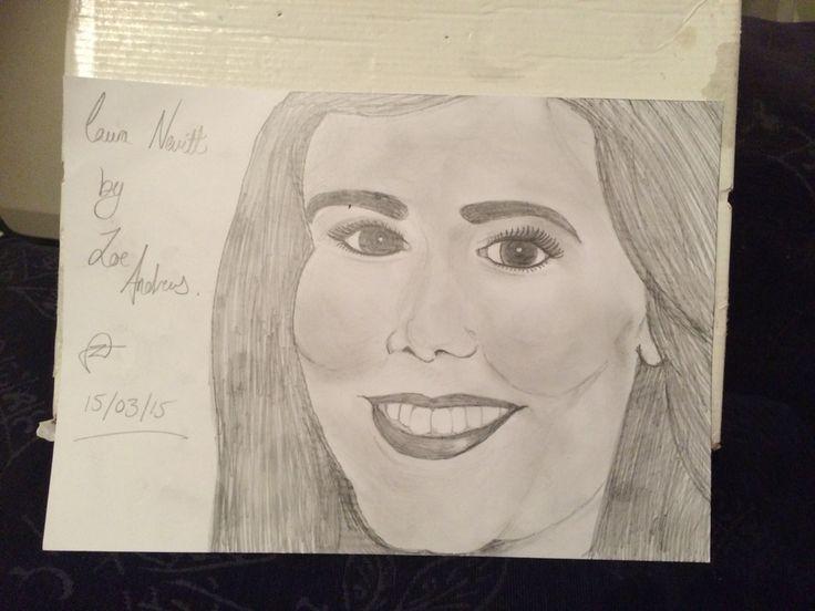 My drawing of Laura Nevitt (from Heart breakfast Radio)