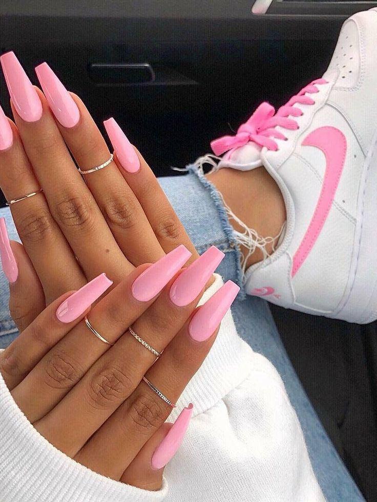 Die Einen Fur Gelmanicure Ideen Jetzt Konnen Kopiert Modernen Streetstyle Werden 28 Ideen Fur Moder Gel Manicure Nails Pink Nails Pink Acrylic Nails
