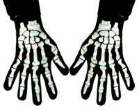 İskelet Eldiveni Kostüm Aksesuarları - Parti Aksesuarları / Şaka Malzemeleri Jarse, üstü gümüş/yeşil parlak baskılı eldive
