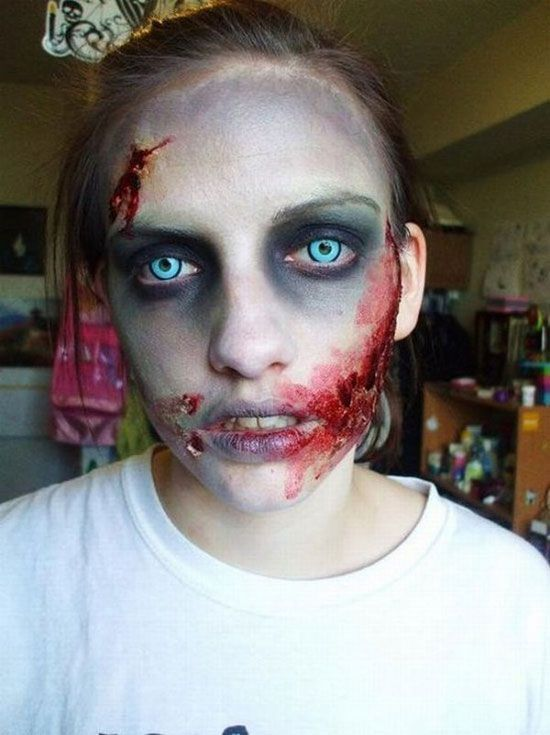 best crazy scary halloween makeup halloween costumes i think zombies are disgusting but i love there eye colors their blue eyes are amazing - Easy But Scary Halloween Makeup
