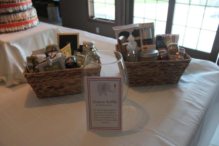 Baby Shower Diaper Raffle Gift Baskets Diy Pinterest